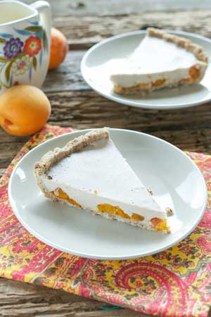 Roasted Apricot Custard Pie