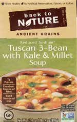 Back to Nature Tuscan 3-Bean with Kale & Millet Soup