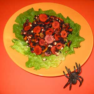 Black Rice, Carrot & Raisin Salad