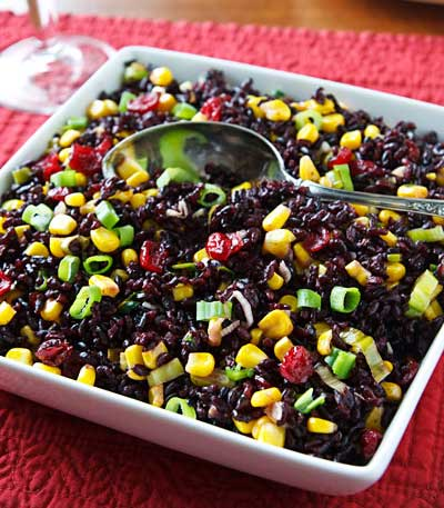 Black Rice with Corn & Cranberries