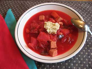 Sweet and Sour Cabbage Borscht