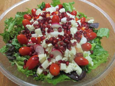 Candy Cane Christmas Salad