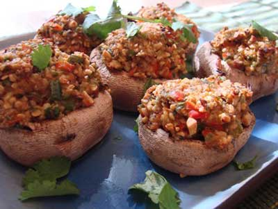 Casher Stuffed Mushrooms