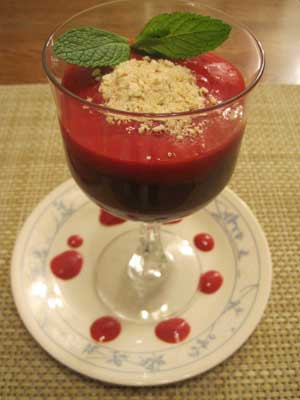 Chocolate Truffle Mousse with Cranberry Splash