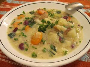 Cabbage & Potato Chowder