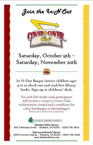 In-N-Out Cover to Cover Book Club