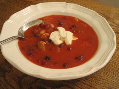 Tangy Cranberry Soup