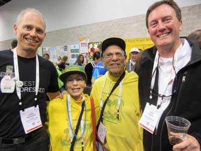 Daiya  Founders Andre Kroecher and Terry Tierney with Ze & Reuben Allen