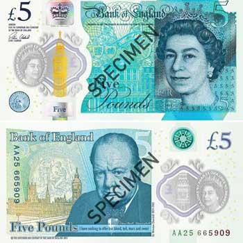 Bank of England 5-pound Note