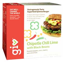 Giv Foods Chipotle Lime Black Beans Burger