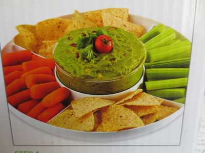 Guacamole on a Vegetable Tray