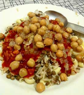 Vegetarians in paradisevegetarian in egyptadam spawton rice this is an unusual and less well known egyptian dish but one of my favorites kosheri is a mix of pasta chickpeas lentils and bulgur wheat finished off forumfinder Choice Image