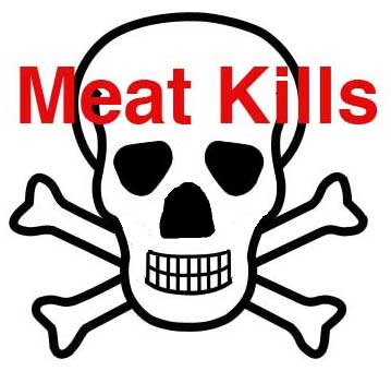 Meat Kills Warning Label