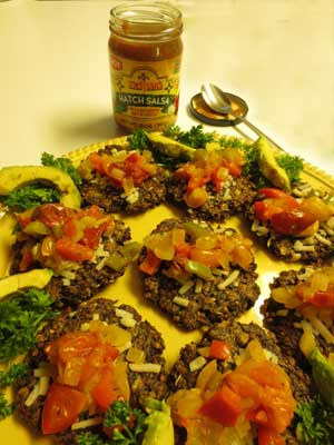 Portobello Mushroom Patties w/Hot Relish