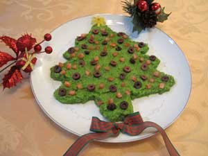 Green Pea Christmas Tree