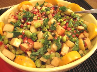 Pomegranate Apple Salad with Ginger & Mint