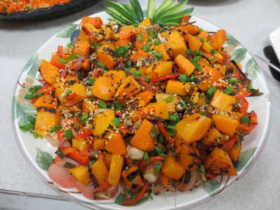 Roasted Butternut Squash Asian Style