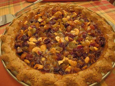 Apricot, Date, and Hazelnut Sticky Pie
