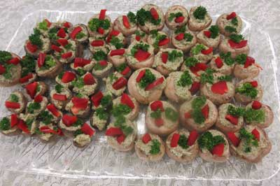 Cannellini Almond Dill Stuffed Mushrooms