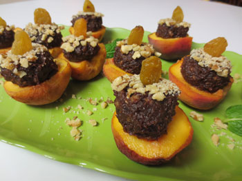 Blackball Stuffed Peaches