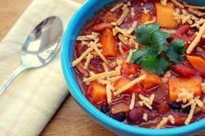 Three Bean and Sweet Potato Chili