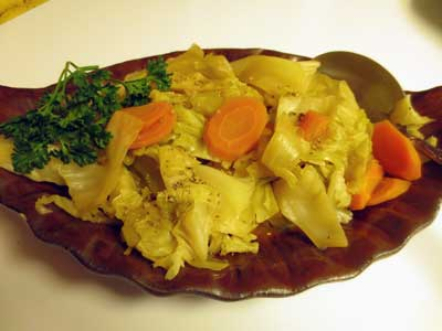German Style Sweet and Sour Green Cabbage