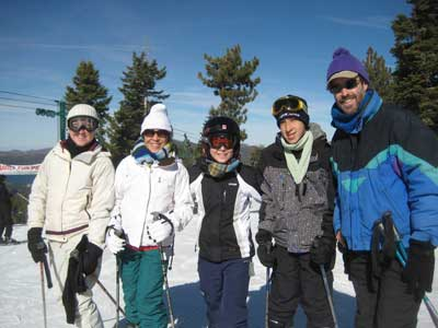 John Tanner and Family Skiing