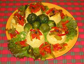 Curried Christmas Timales/Bell Pepper Relish