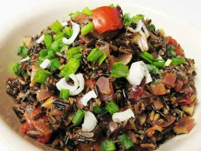 Wild Rice and Chestnut Pilaf