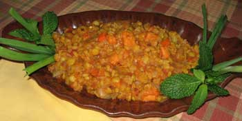 Curried Yellow Split Peas
